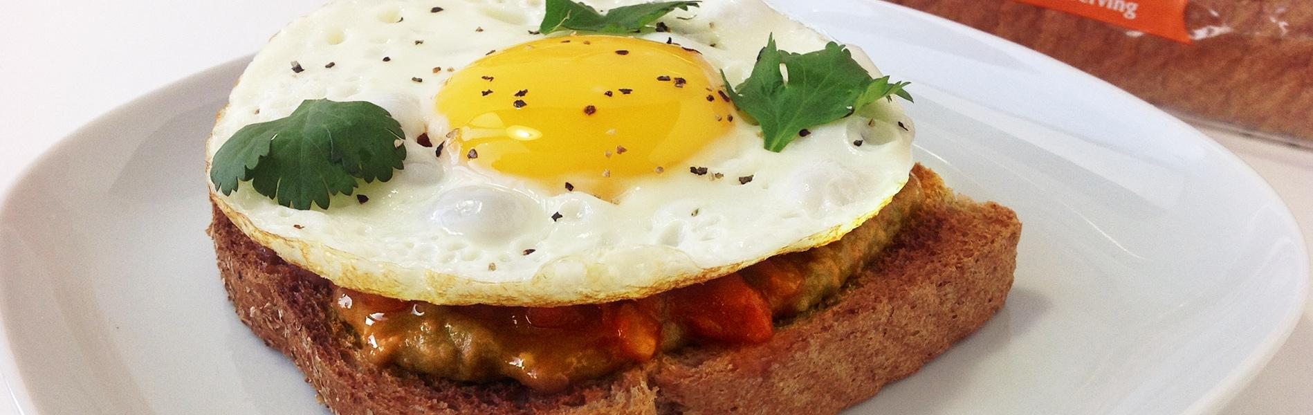 Eggs and beans on toast