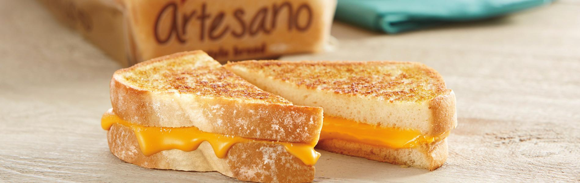 Grilled Cheese Sandwich made with Artesano Bread
