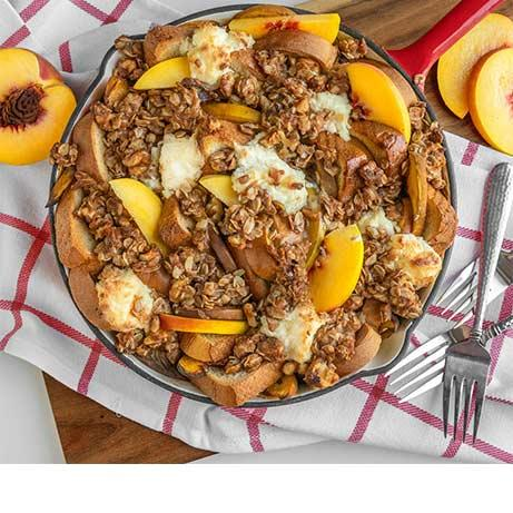 Peaches & Cream French Toast Bake