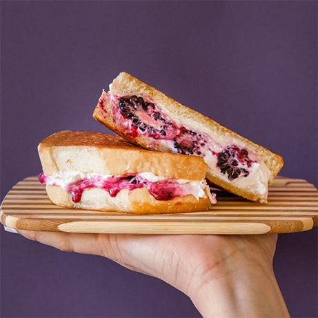 Blackberry and Goat Cheese sandwich