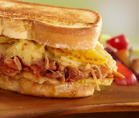 Grilled Cheese and Pork sandwich