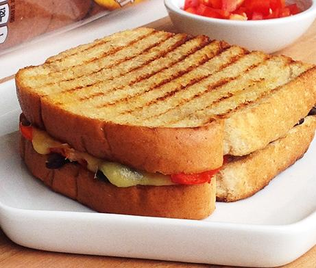 Grilled Portobello & Pepper Panini