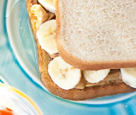 PB, Honey & Banana Sandwich