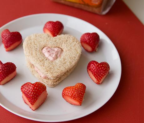 Strawberry Hearts Sandwich