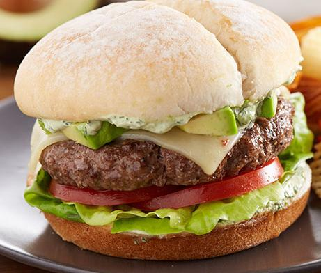 Avocado & Pepper Jack Bison Burger