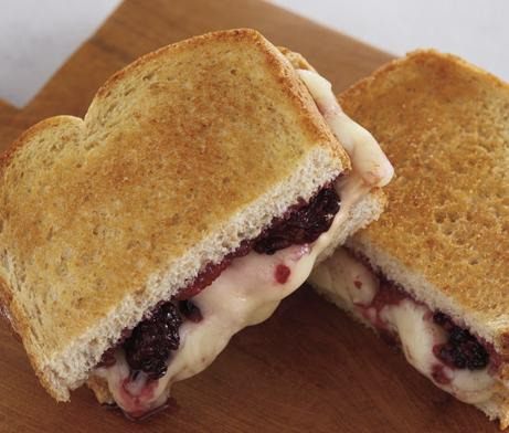 Brie & Blackberry Grilled Cheese Sandwich made with Wheat Bread