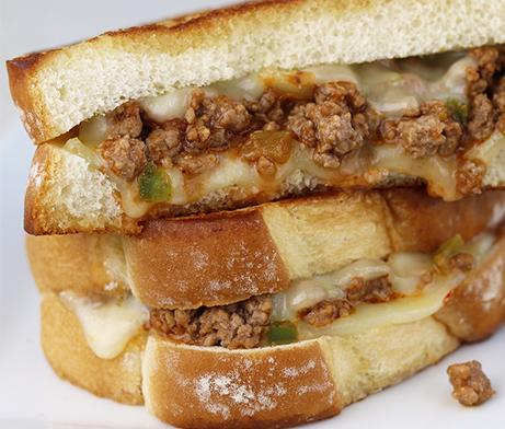 Spicy Sloppy Joe Artesano Grilled Cheese