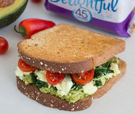 Avocado, Egg White & Spinach Sandwich