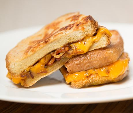Caramelized Onion & Bacon Grilled Cheese