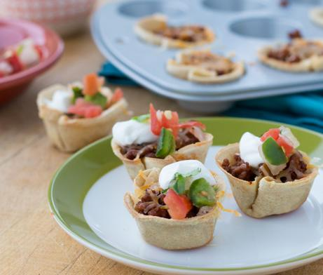 Green Chile Taco Cups