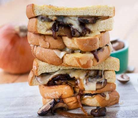 Mushroom & Onion Grilled Cheese