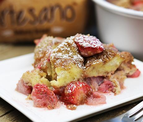 Strawberry Lemon French Toast Bake
