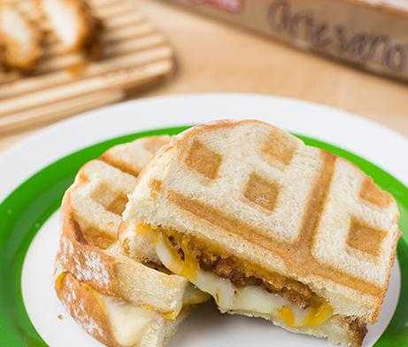 Chicken & Waffle Iron Grilled Cheese