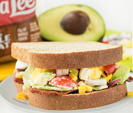 Turkey Bacon Cobb Salad Sandwich