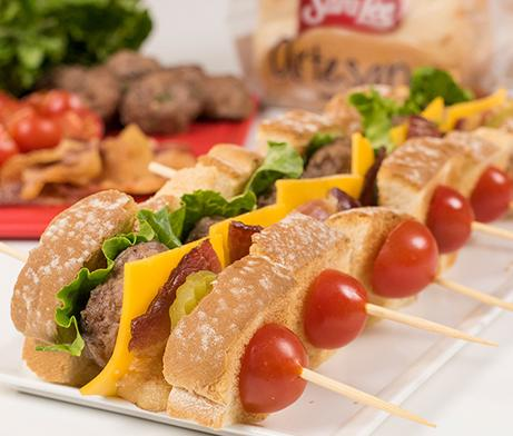 Mini Burger Skewers