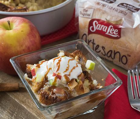 Cinnamon Apple Bread Pudding