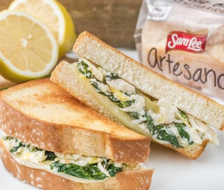 Lemon Chicken & Spinach Artichoke Dip Grilled Cheese