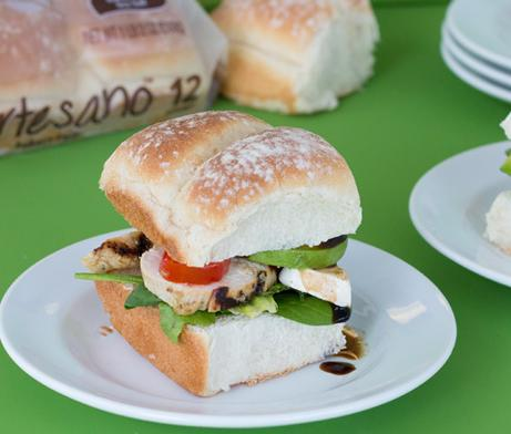 Caprese Chicken Salad Sliders