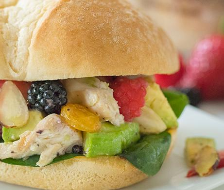 Grilled Summer Chicken Salad Sandwich