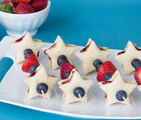 Star Spangled Sandwich Skewers