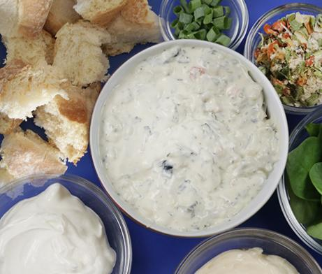 Spinach Dip with Artesano Bakery Rolls
