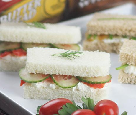 Salmon & Cucumber Finger Sandwiches